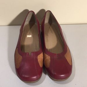 Naturalizer Ladies Casual Leather Shoes Slip On Flats Size 9 1/2